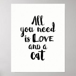 Pôster Tudo que você precisa é amor e um gato