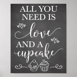 Poster Tudo que você precisa é amor e um sinal do