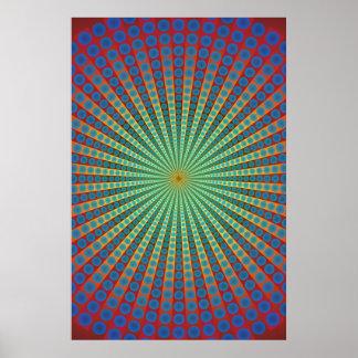 Poster: Túnel das esferas: Arte psicadélico Poster