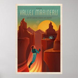 Pôster Turismo de Marte Valles Marineris