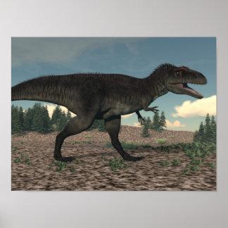 Poster Tyrannotitan - 3D rendem