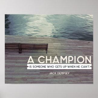 Poster Um campeão