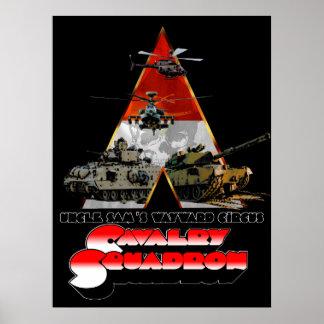Poster Um retro-filme do esquadrão de Cav denominou o