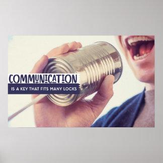 Pôster Uma comunicação é uma chave