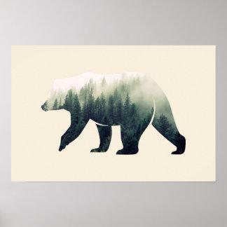 Poster Urso na floresta