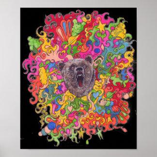 Pôster Urso psicadélico
