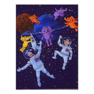 Poster Vacas do espaço