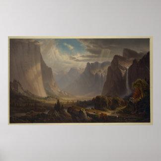 Pôster Vale de Yosemite. Após a pintura pelo monte de