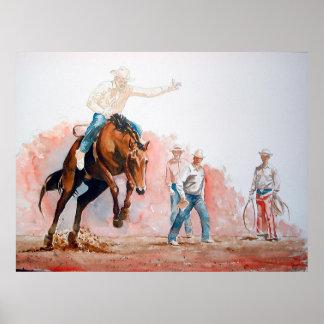 Poster Vaqueiro da equitação do Bronc