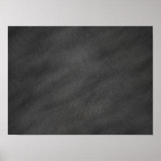 Pôster Vazio preto cinzento do conselho de giz do fundo