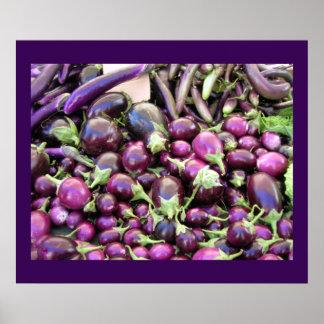 Poster - vegetais roxos