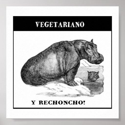 Pôster Vegetariano e gordinho
