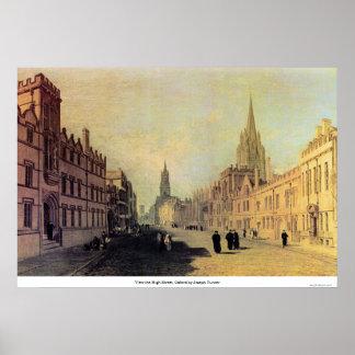 Pôster Veja a rua principal, Oxford por Joseph Turner