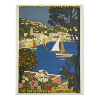Pôster Veja o Riviera francês