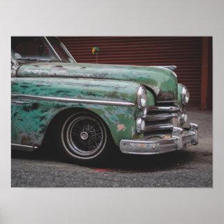 Poster velho do carro