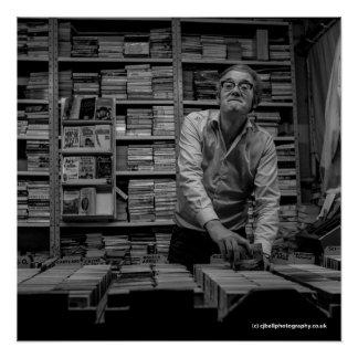 Pôster Vendedor de livro - Blackburn. Os anos 80 do