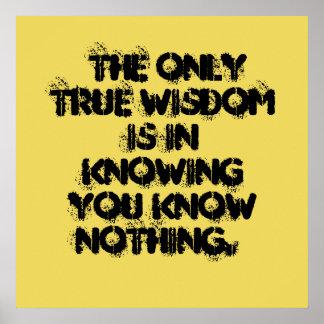 Poster verdadeiro da sabedoria