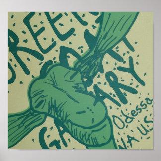 Poster verde da galeria 2 da cabra