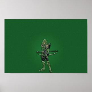 Poster verde da seta