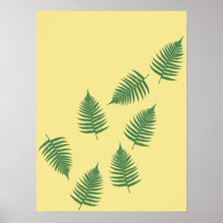 Poster verde de flutuação do abstrato do na moda