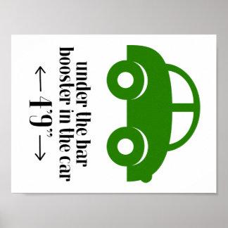 Poster verde do carro