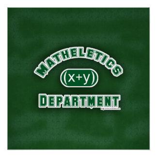 Pôster Verde do departamento de Mathletics
