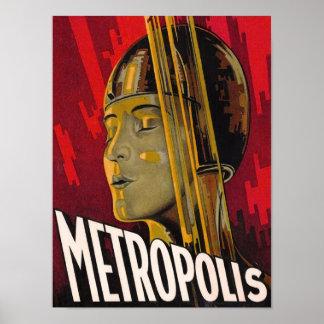 Pôster Vermelho da metrópole
