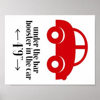 Poster vermelho do carro