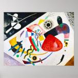 Poster vermelho do ponto de Kandinsky