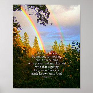 Poster Verso cristão da bíblia da escritura da floresta