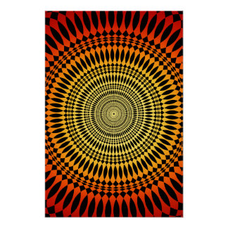 Poster: Vertigem do Sunburst: Abstrato psicadélico