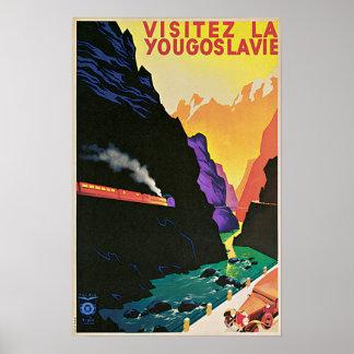 Pôster Viagem de Jugoslávia da visita do vintage