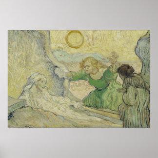 Pôster Vincent van Gogh - o levantamento de Lazarus