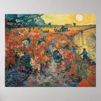 Poster Vinhedos do vermelho de Vincent van Gogh | em