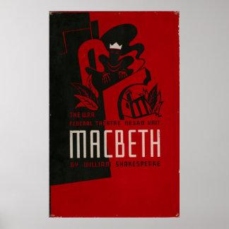 Poster vintage 1937 de WPA do teatro do negro de