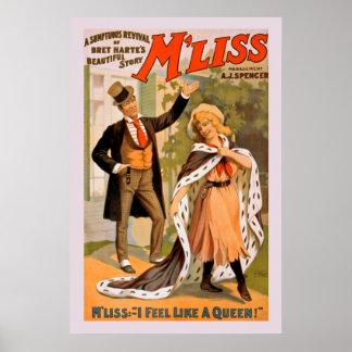 Poster vintage bonito da história