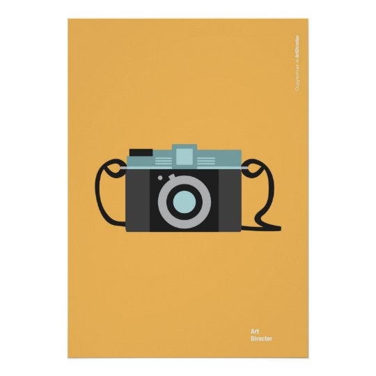 Pôster Vintage Camera