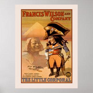 Poster vintage corporal pequeno Broadway Ópera