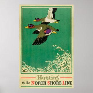Poster vintage da caça e da pesca