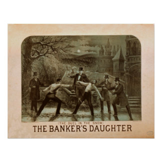 Poster vintage da filha do banqueiro
