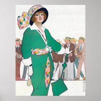 Poster vintage da forma da mulher