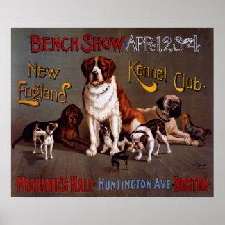 Poster vintage da mostra de banco do clube do