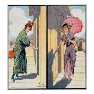 Poster vintage da mulher do encanto
