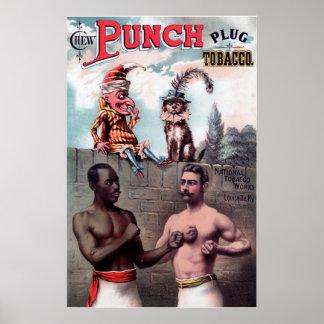 Poster vintage da propaganda do tabaco da tomada