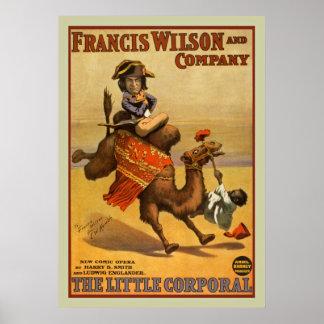 Poster vintage das artes de palco da ópera pôster