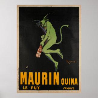 Pôster Vintage de Apertif do absinto de Maurin Quina