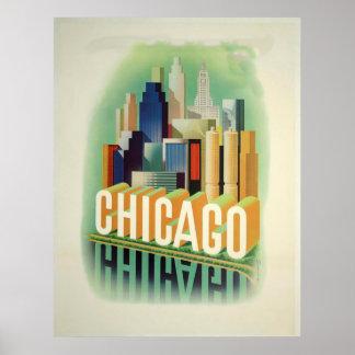 Poster vintage de Chicago
