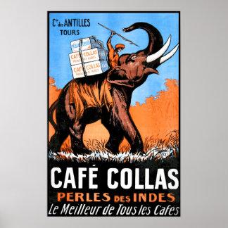 Poster vintage de Collas do café