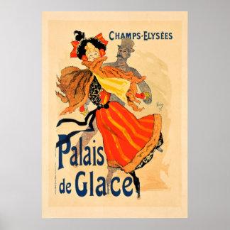 Poster vintage de Elysees Palais de Glace dos