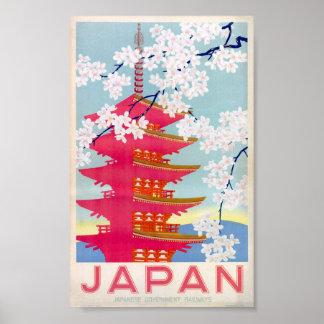 poster vintage de japão pôster
